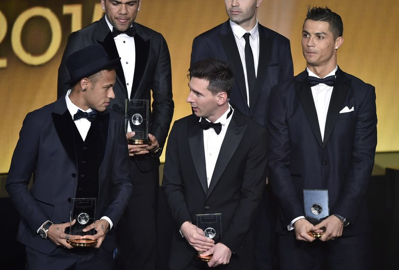 Od lewej: Neymar, Leo Messi i Cristiano Ronaldo /AFP