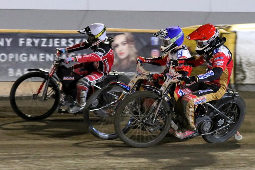 Od lewej: Oliver Berntzon, Dimitri Berge, Kai Huckenbeck. Mecz Polonia - Start /Jarosław Pabijan /Newspix
