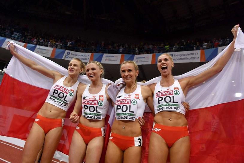 Od lewej: Patrycja Wyciszkiewicz, Małgorzata Hołub, Justyna Swięty i Iga Baumgart /AFP