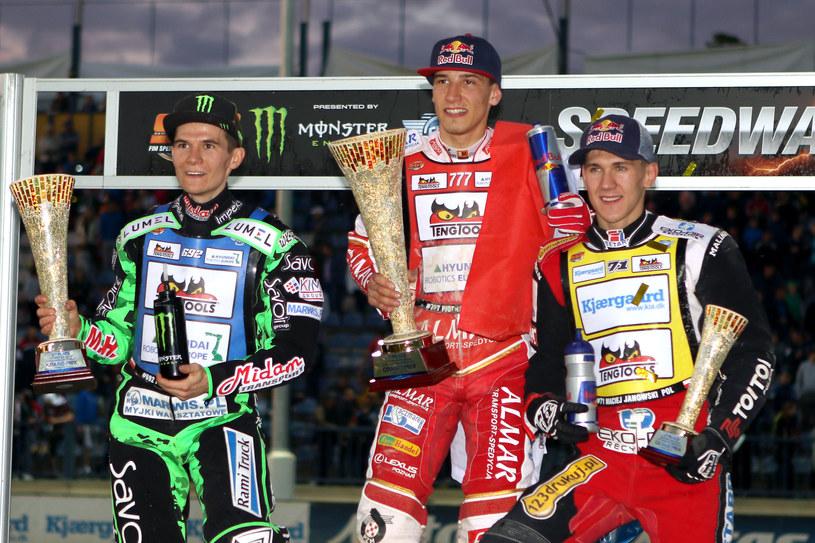 Od lewej: Patryk Dudek, Piotr Pawlicki i Maciej Janowski /fot. Grzegorz Przygodzinski /Newspix