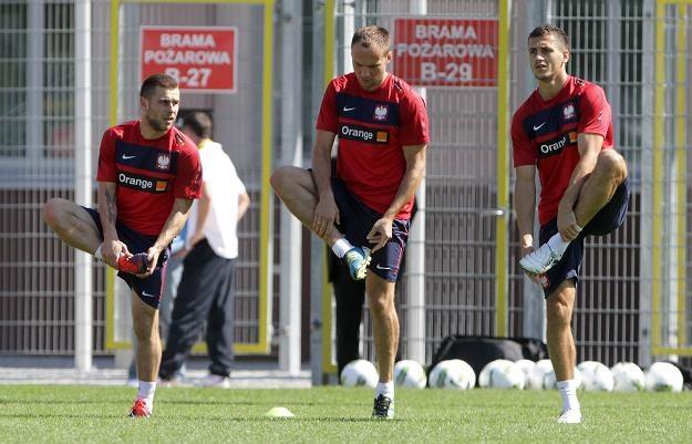 Od lewej: Patryk Małecki, Arkadiusz Głowacki i Tomasz Jodłowiec fot: Bartłomiej Zborowski /PAP