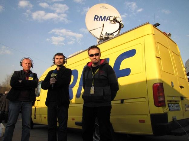 Od lewej: Paweł Świądek, Mariusz Piekarski i Michał Dukaczewski /RMF FM