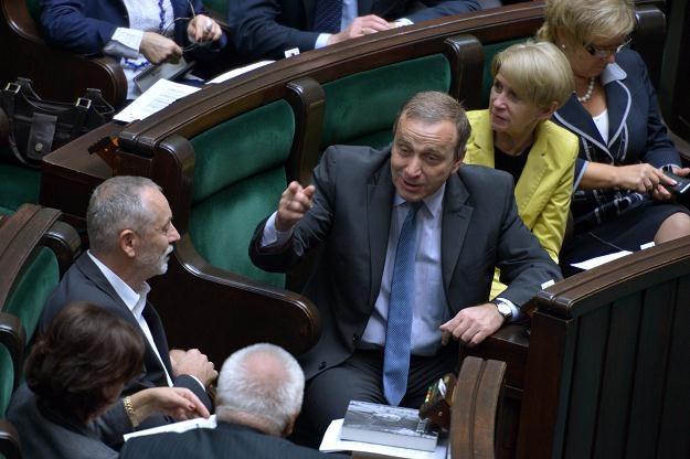 Od lewej: Rafał Grupiński, Grzegorz Schetyna i Iwona Śledzińska-Katarasińska wczoraj w sejmie /PAP