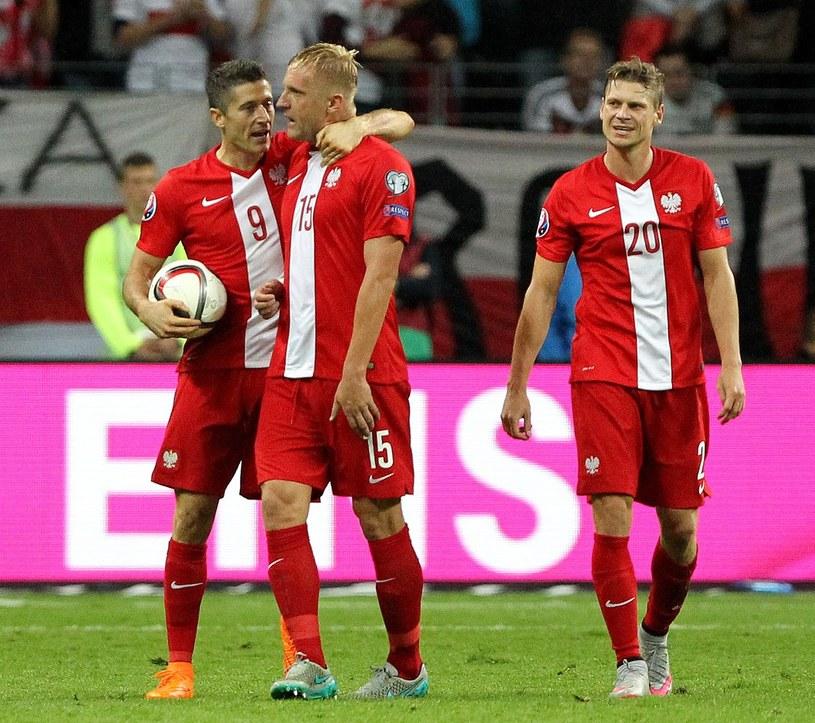 Od lewej: Robert Lewandowski, Kamil Glik, Łukasz Piszczek /AFP