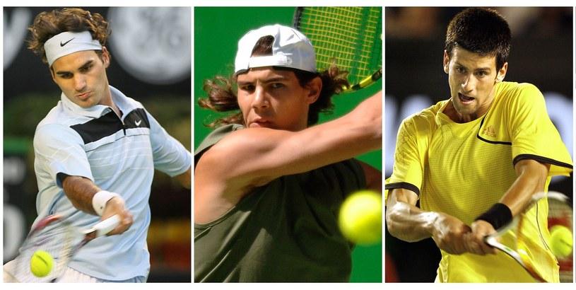 Od lewej: Roger Federer, Rafael Nadal i Novak Djoković /AFP