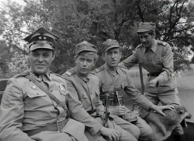 Od lewej: Roman Wilhelmi, Janusz Gajos, Franciszek Pieczka, Włodzimierz Press /East News