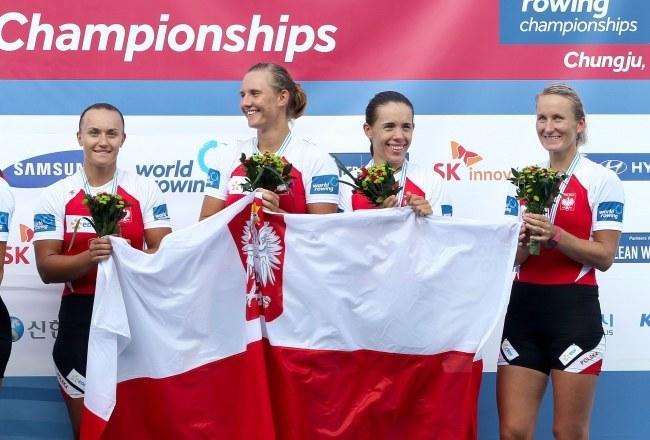 Od lewej: Sylwia Lewandowska, Joanna Leszczyńska, Magdalena Fularczyk-Kozłowska, Natalia Madaj /PAP/EPA