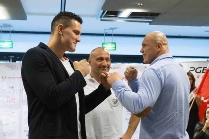Od lewej Tomas Mozny, Marcin Najman i Tomasz Sarara /Adam Guz /East News