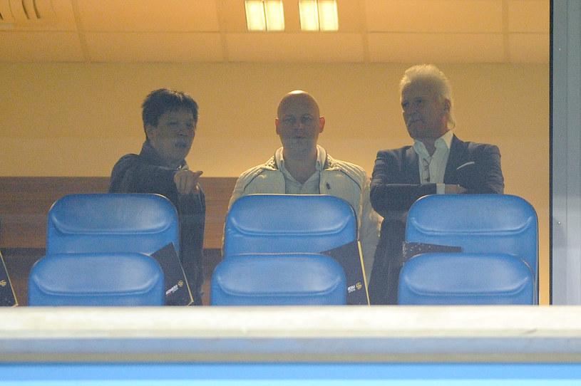 Od lewej: Vanna Ly, Adam Pietrowski i Mats Hartling podczas meczu Wisły Kraków z Lechem Poznań /Krzysztof Porebski / PressFocus /Newspix