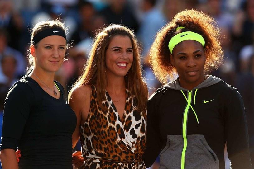 Od lewej Wiktoria Azarenka, Jennifer Capriati i Serena Williams /AFP