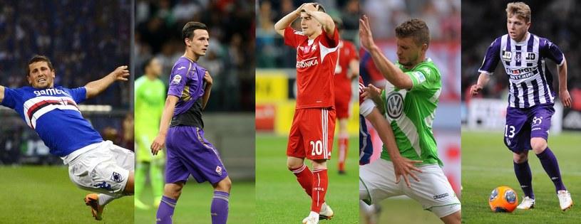 Od lewej: Wszołek, Wolski, Chrapek, Klich i Furman /AFP
