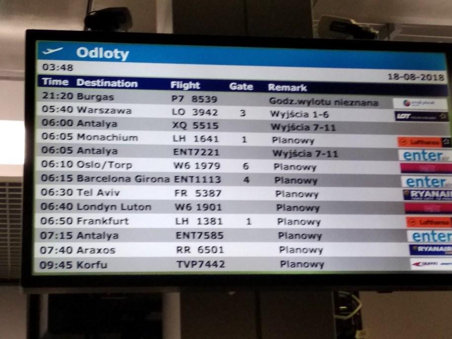 Od piątku godzina wylotu do Burgas jest neiznana /Turyści czekający na lot w Burgas /Gorąca Linia RMF FM