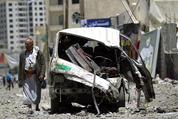 Od połowy marca w Jemenie zginęło około tysiąca osób fot. Mohammed Huwais /AFP