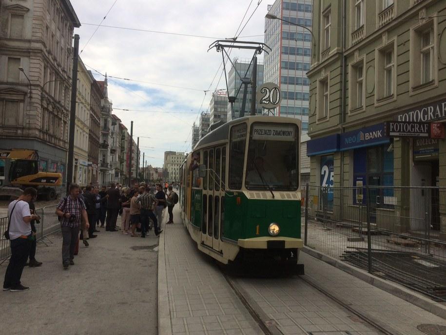 Od poniedziałku tramwaje wracają na ul. Św. Marcin /Mateusz Chłystun /RMF FM