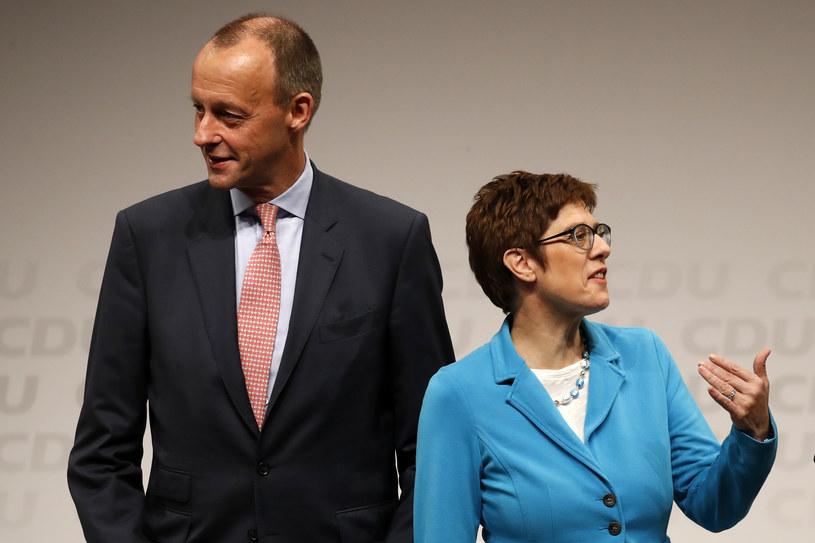Od prawej: Annegret Kramp-Karrenbauer i Friedrich Merz /AFP