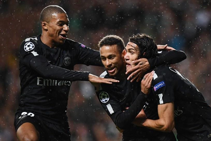 Od prawej: Edinson Cavani, Neymar i Kylian Mbappe /AFP