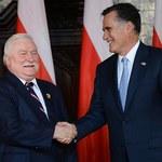 """""""Od Romneya biją wartości"""". Wałęsa """"zdobyczą"""" Romneya po wizycie w Polsce"""