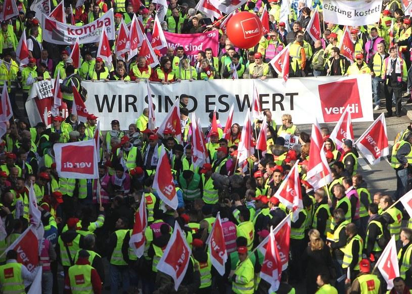 Od wtorku będą strajki w sektorze publicznym w Niemczech /AFP