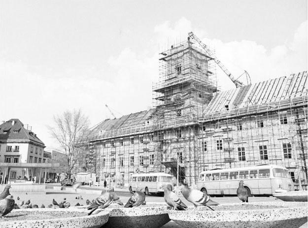 Odbudowa Zamku Królewskiego w Warszawie /Z archiwum Narodowego Archiwum Cyfrowego
