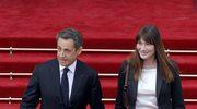 Odchodzący prezydent Nicolas Sarkozy i jego żona Carla Bruni opuścili Pałac Elizejski po rozpoczęciu uroczystości zaprzysiężenia Francois Hollande'a