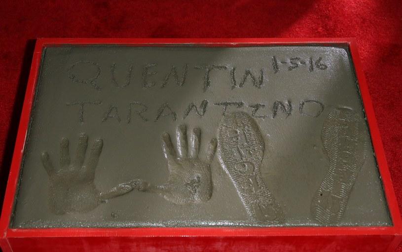 Odciski dłoni i stóp Quentina Tarantino /AFP