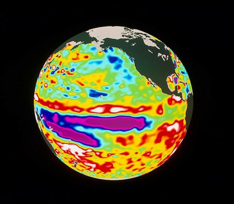 Odczyty satelitarne z 1998, na których widać siłę i zasięg El Nino /Science Photo Library/EAST NEWS /East News
