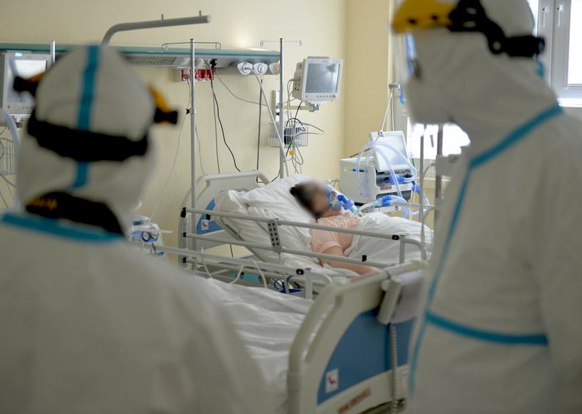 Oddział covidowy w szpitalu w Przemyślu /LUKASZ SOLSKI /East News