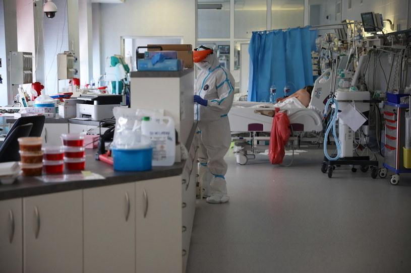 Oddział intensywnej terapii dla pacjentów z koronawirusem w jednoimiennym szpitalu zakaźnym (wcześniej CSK MSWiA) w Warszawie /Leszek Szymański /PAP