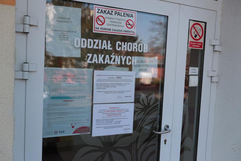 Oddział zakaźny szpitala w Zielonej Górze, gdzie przebywa zakażony pacjent; zdj. ilustracyjne /Fot. Piotr Jedzura /Reporter