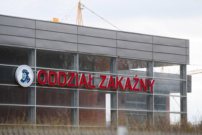 Oddział Zakaźny Wielospecjalistycznego Szpitala Miejskiego im. Józefa Strusia 10 bm. z ZOL SPZOZ w Poznaniu /Jakub Kaczmarzyk /PAP