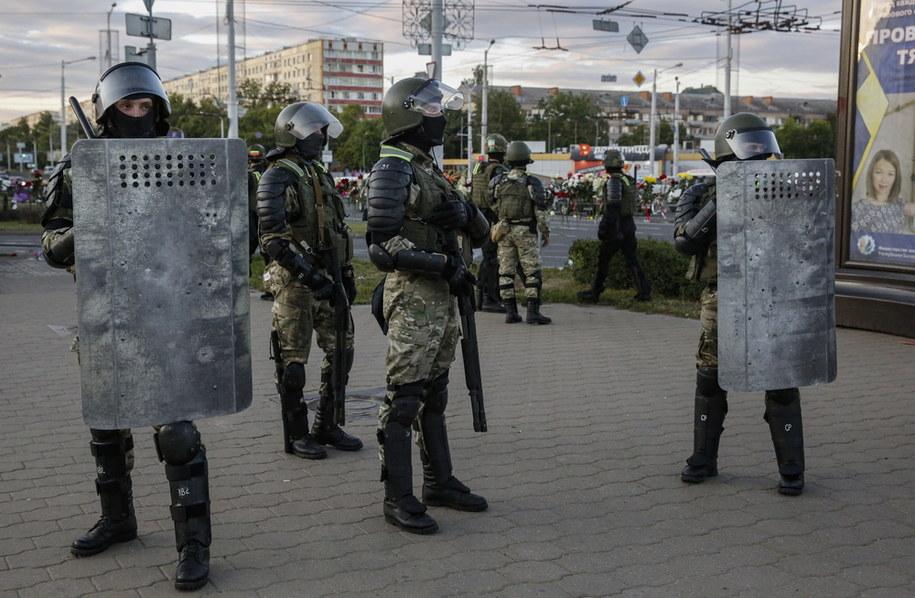 Oddziały białoruskiej milicji /TATYANA ZENKOVICH  /PAP/EPA