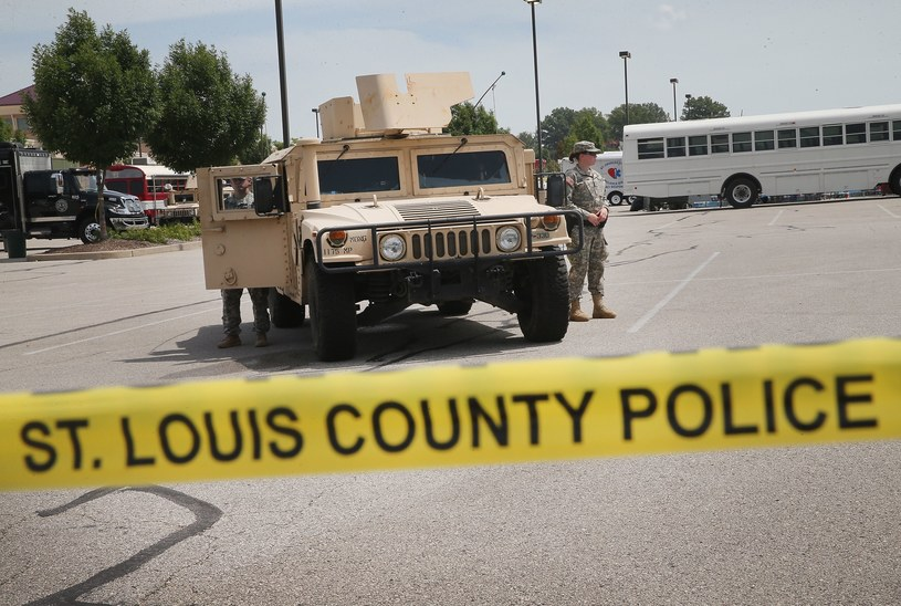Oddziały Gwardii Narodowej były w Ferguson od poniedziałku /AFP