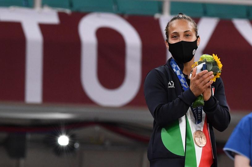 Odette Giuffrida podczas ceremonii medalowej /CIRO FUSCO /PAP/EPA