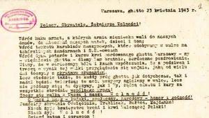 Odezwa żydowskich powstańców do Polaków