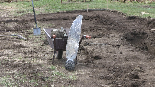 Odkrycie podczas prac budowlanych na działce /Łukasz Zakrzewski /RMF MAXXX