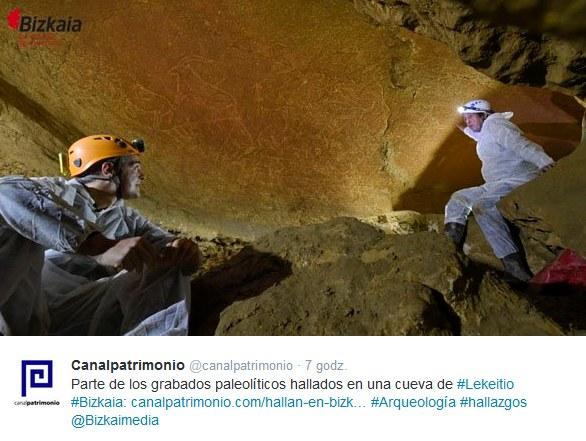 Odkryto liczące około 14 tysięcy lat malowidła skalne /Twitter