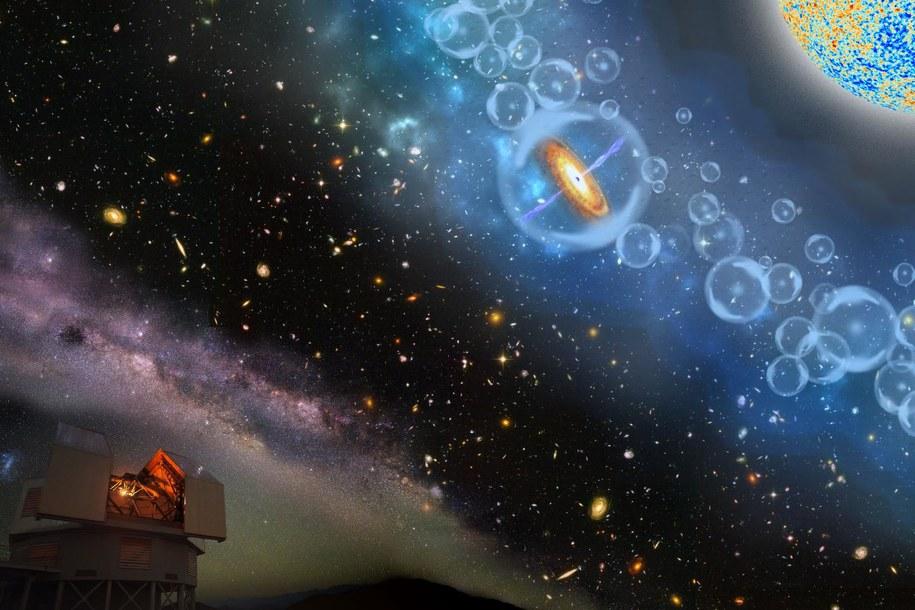 Odkryto najdalszą znaną supermastywną czarną dziurę /Robin Dienel, Carnegie Institution for Science /Materiały prasowe