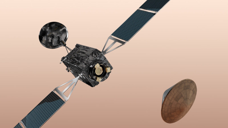 Odłączenie EDM od sondy ExoMars 2016 - wizualizacja /materiały prasowe