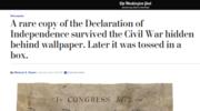 Odnaleziono rzadką kopię Deklaracji Niepodległości z XIX wieku