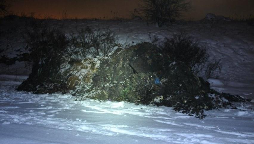 Odpady w Wojkowicach /Policja