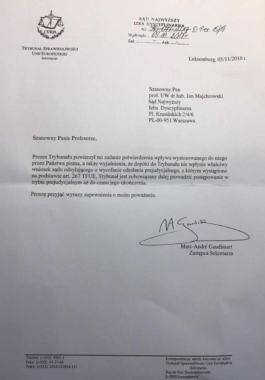 Odpowiedź przesłana do prof. Majchrowskiego /
