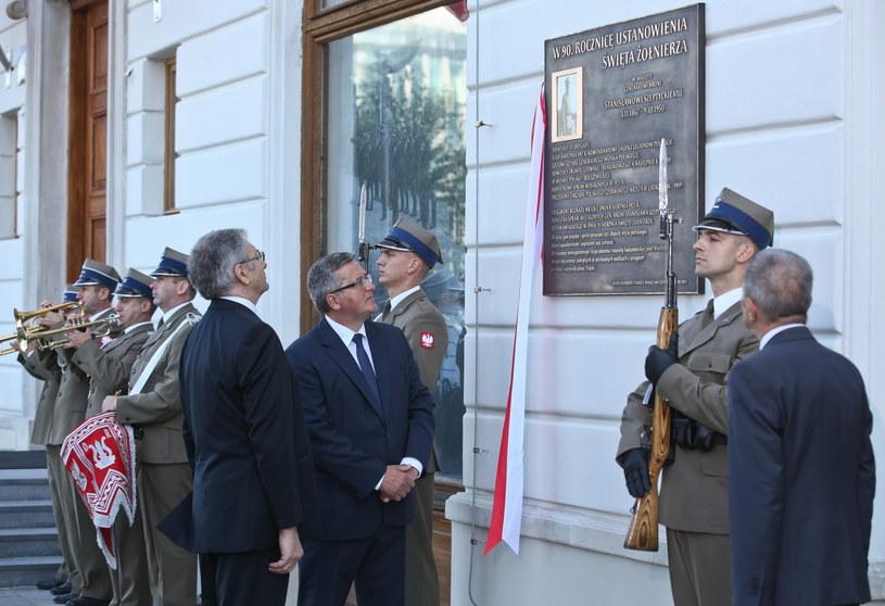 Odsłonięcia tablicy pamiątkowej poświęconej gen. Stanisławowi Szeptyckiemu /Rafał Guz /PAP