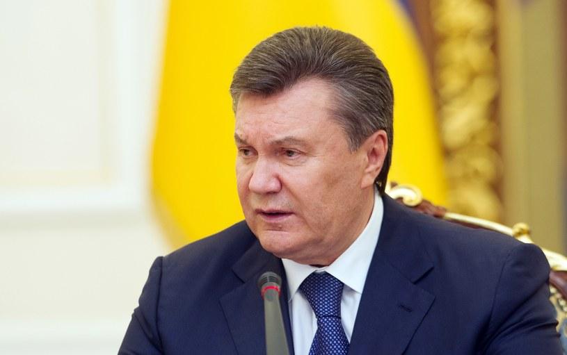 Odsunięty od władzy prezydent Ukrainy Wiktor Janukowycz. /AFP