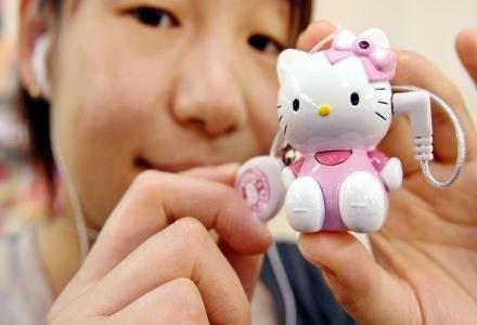 Odtwarzacze przybierają różne dziwne formy - na zdjęciu player Hello Kitty /AFP