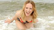 Odważyła się zanurzyć w lodowatym Bałtyku