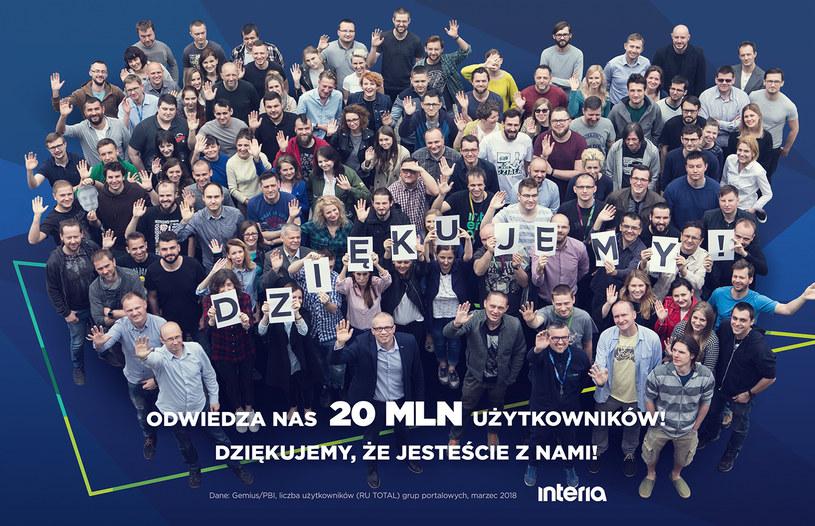 Odwiedza nas 20 mln użytkowników /INTERIA.PL