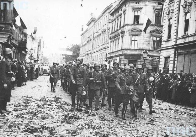 Odzyskanie Zaolzia: Wkroczenie wojsk polskich do Czeskiego Cieszyna /Z archiwum Narodowego Archiwum Cyfrowego
