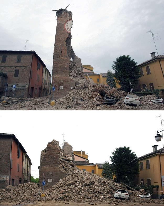 Ofekty trzęsienia ziemi w Ferrarze /AFP
