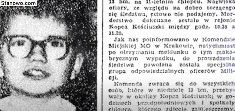 Ofiarą Karola Kota padł uczeń szkoły podstawowej. Zadał chłopcu aż 11 ciosów nożem. /YouTube