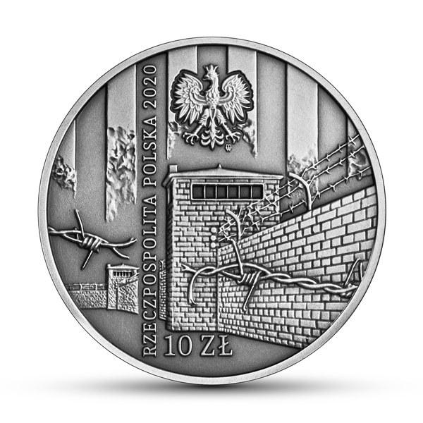 Ofiarom obozu KL Warschau, 10 zł, rewers /Narodowy Bank Polski /